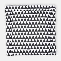 KraftKids Wickelauflage schwarze Dreiecke breit 75 x tief 70 cm