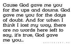 You are my beautiful gift my GoD!!!  That's for sure my blessing!