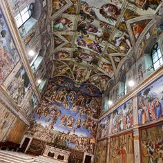 Sistine Chapel   Vatican City. Wish I could see it again. So beautiful!