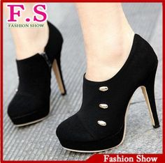 Sexy high heels ankle boots fashion women dress shoes rivets platform high quality flock martin boots pumps XB047 free shipping