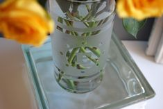 How to make etch a glass vase and free monogrammed DIY glass etching template - AWESOME!!
