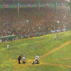 1923 World Series, Yankee Stadium Yankee Stadium, World Series, Artist Canvas, Baseball Cards, Sports, Hs Sports, Sport