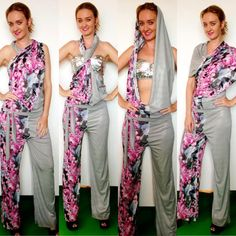 Multi way jumpsuit- twist it and create your own style