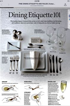 Dinning Etiquette, Table Setting Etiquette, Table Settings, Coffee Breakfast Smoothie, Survival Life Hacks, Essential Kitchen Tools, Etiquette And Manners, Modern Cafe, Table Manners