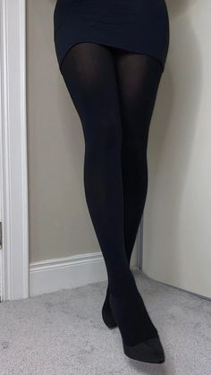 Fashion Tights, Tights Outfit, Black Socks, Black Tights, School Girl Outfit, Girl Outfits, Pantyhose Outfits, Party Dresses Online, Opaque Tights