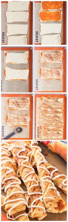 Pumpkin Pie Twists Recipe