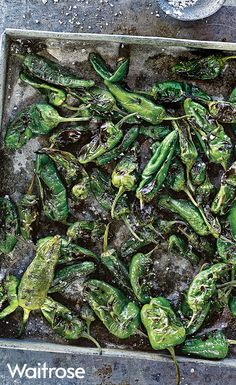 Sweet, smoky and incredibly moreish little padron peppers. Try our simple recipe tossed with salt and pepper for your next summer barbecue. Find this recipe and more on the Waitrose website.