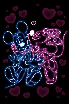 LINE Official Stickers - Mickey and Friends Moving Backgrounds Example with GIF Animation