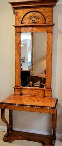 A stunning Biedermier Console and Pier Mirror:
