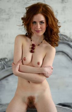 Hairy nude red hair girl