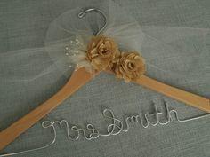 Charming Barn Wedding Hanger Bridal Hanger Wedding by DivineDays, $28.00
