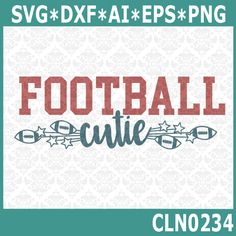 CLN0234 Football Cutie Stars Kid's Infant Baby Big Game SVG DXF Ai Eps PNG Vector Instant Download Commercial Cut File Cricut Silhouette by CraftyLittleNodes on Etsy