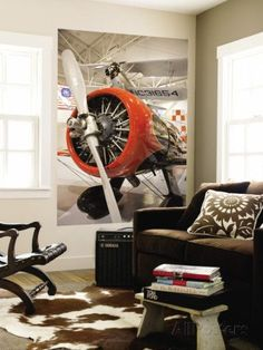 Aviator bedroom inspirations | Find inspiration in this plane decoration to create an amazing and luxurious bedroom for kids with Circu exclusive designs. More at CIRCU.NET