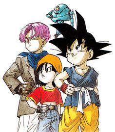 Goku,Pan,Trunks e Giru. Dragon ball GT