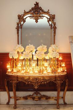 Candles and Glass and Flowers! *End of the hall??