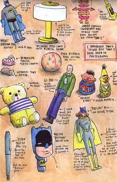 The Dork Review: Rob's Room: Chris Ware's Favorite Childhood Toys