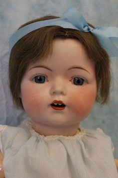"RARE Antique 18"" Fulper Bisque Head Baby Doll Made in USA Orig Compo Body c.1920"