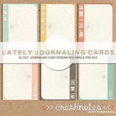 crashnotes: freebie 3x4 journaling cards PNG file #ProjectLife