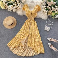 Simple Dresses, Casual Dresses For Women, Cute Dresses, Beautiful Dresses, Summer Dresses, Clothes For Women, Kpop Outfits, Boho Outfits, Spring Outfits