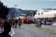 Mango Ave (main street) Rabaul, city parade, 1992