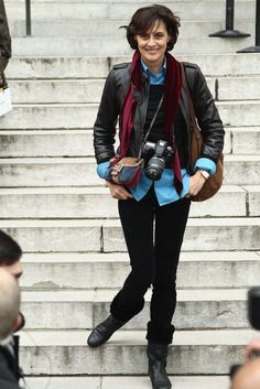 Ines de la Fressange - I like her confidence in what she chooses to wear - January 24, 2012