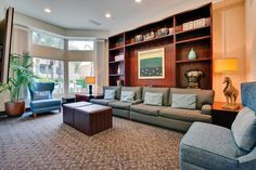 Media screening room at HillCreste Apartments in Century City,