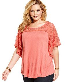 plus size blouse, with short flutter sleeves image | fashion likes