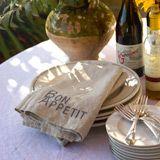 Linen napkins, customizable