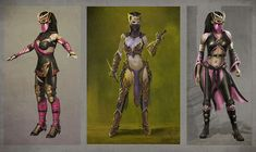 View an image titled 'Mileena Concept Art' in our Mortal Kombat X art gallery featuring official character designs, concept art, and promo pictures. Game Character Design, Character Concept, Character Art, Concept Art, Mortal Kombat X, Kung Jin, Dnd Elves, Video Game Characters, Fictional Characters