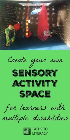 Sensory activity space collage