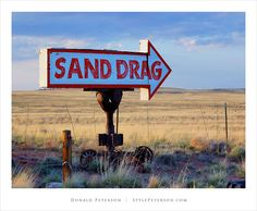 Route 66, Arizona, Old Sand Drag Sign
