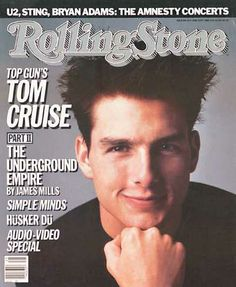 Tom Cruise on the cover of Rolling Stone (1986)