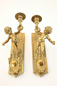 Hold for Vera, Sconce Pair with Putti, Vintage Brass Wall Sconces with Cherubs, Italian Brass Wall Sconces with Putti, Hollywood Regency