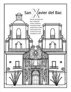 San Xavier Del Bac Coloring Page At GilaBen