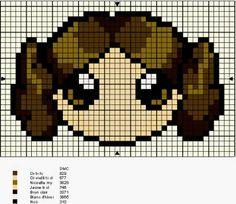 Princess Leia cross stitch pattern