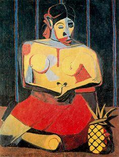 "Rufino Tamayo:  ""Woman With Pineapple"""