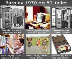 Barn av 1970 og 80-tallet.
