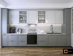 Kitchen Room Design, Kitchen Cabinet Design, Dining Room Design, Kitchen Layout, Home Decor Kitchen, Kitchen Interior, Interior Design Living Room, Basement Kitchen, Ikea Kitchen