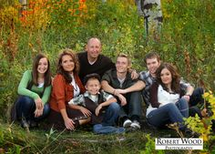 large family pose with older kids