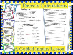This guided inquiry lesson for scientific notation and significant figures while using the density formula to calculate mass, volume, and density. Students are able to actively learn the material without lecture or note taking. -- this is EXACTLY what I needed right now!
