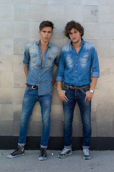 Quadruple denim at the Fortezza de Basso