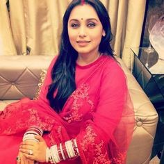 Rani Mukher Snapped with Sindoor and Chuda