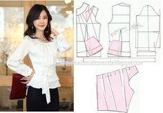 girly blouse pattern, classic