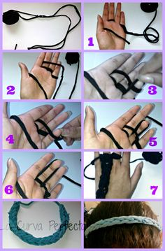 DIY: vinchas con ropa reciclada Handmade Accessories, Headbands, Diy Crafts, Make It Yourself, Crochet, Pattern, How To Make, Awesome, Google