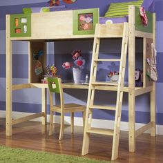 plans to build a twin bed with desk under it - Google Search