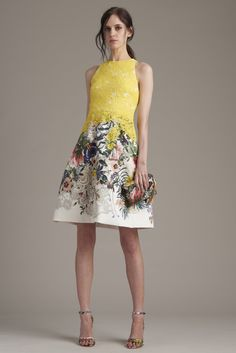 Monique Lhuillier | Resort 2016 | 23 Multicolored embroidered floral sleeveless mini dress