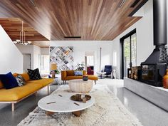 A modern addition to an Art Deco home by Folk Architects has been brought to life by Sydney-bas...