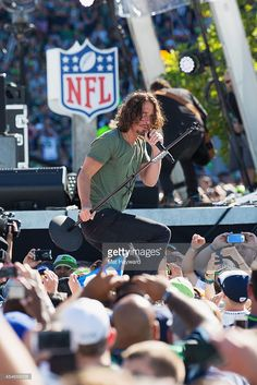 Singer Chis Cornell of Soundgarden performs on stage during the NFL Kickoff concert presented by Xbox before the Seattle Seahawks play the Green Bay Packers at CenturyLink Field on September 4, 2014 in Seattle, Washington.