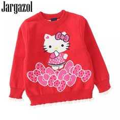 Jargazol Kids Clothes Baby Girl Sweater Cartoon Hello Kitty Pony Printed Autumn Winter Long Sleeve Shirt Cute Girls Sweaters Price: 20.60 & FREE Shipping #fashion #tech #home #lifestyle Baby Girl Sweaters, Fall Winter, Autumn, Shopping Day, Cute Girls, Pony, Hello Kitty, Long Sleeve Shirts, Girl Outfits