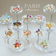 Luxurious French Pastry Displays by Paris Miniatures
